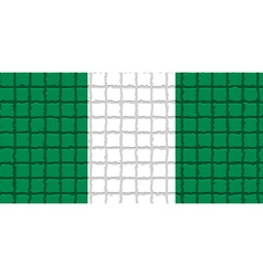 The mosaic flag of Nigeria vector