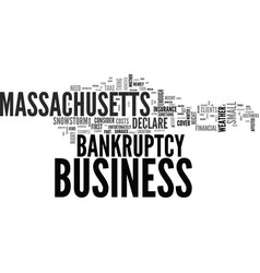 what to do if you have to declare bankruptcy in vector image