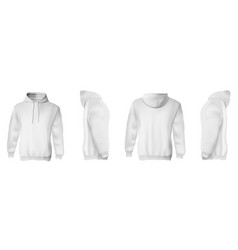 white man hoodie set vector image