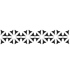 border of black flowers for decoration vector image vector image