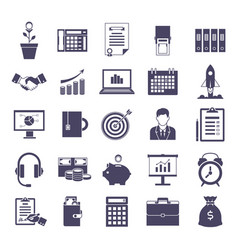 business simple icons set vector image