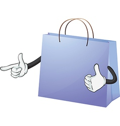 A blue bag vector image vector image