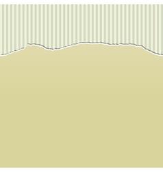 Beige Torn Paper on Stripes vector image vector image