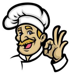 chef mascot vector image vector image