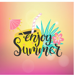 enjoy summer paradise vector image