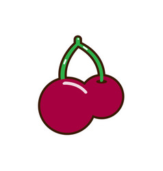 red cherry icon unusual cherry design red vector image vector image
