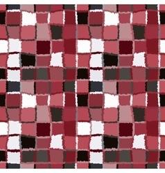 Seamless geometric mosaic checked pattern vector image