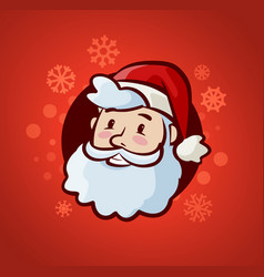 happy santa claus christmas or new year banner vector image