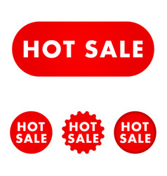 hot sale button vector image