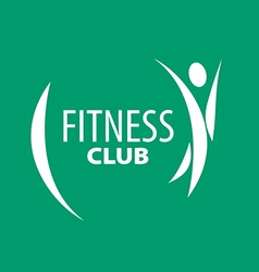 Abstract logo for fitness clubs on a green vector image