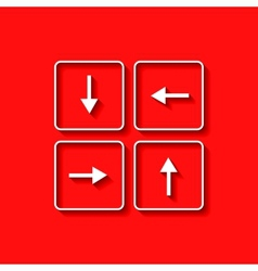 arrows buttons keyboard vector image vector image