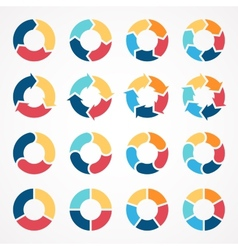 Circle arrows set for infographic template for vector