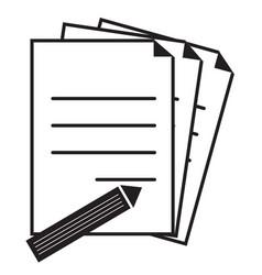 document icon on white background flat style vector image