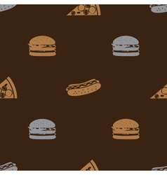 fast food brown pattern seamless eps10 vector image vector image