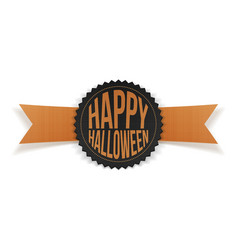 Happy Halloween greeting Label with Text vector image vector image