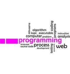 word cloud programming vector image vector image
