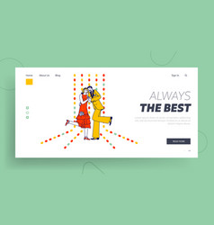 1920 age swing dance performance landing page vector image