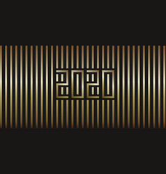 2020 strips gold vector