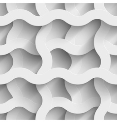Abstract white paper plexus waves 3d seamless vector image