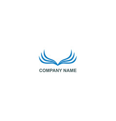 abstract wing fly colored company logo vector image