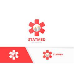 Ambulance and graph logo combination medic vector