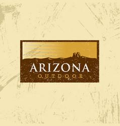 arizona outdoor adventure mountain hiking creative vector image