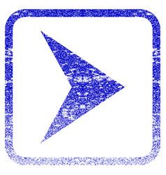Arrowhead right framed textured icon vector