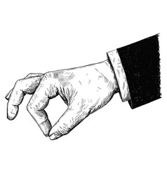 artistic or drawing of businessman hand in suit vector image