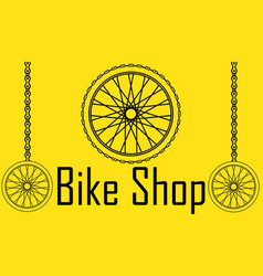 bicycle poster wheel bike vector image