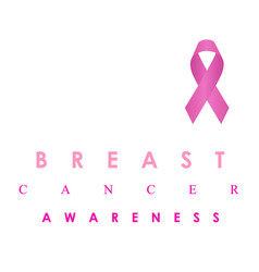 Breast cancer awareness icon in pink colors vector