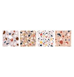 bundle decorative italian terrazzo textures vector image