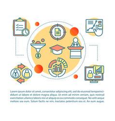 Business development concept linear vector