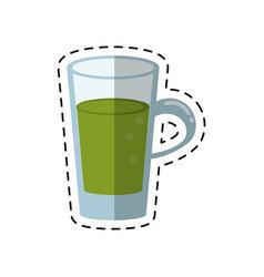 cartoon glass cup juicy refreshment vector image