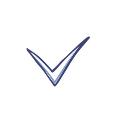 check mark and tick used in voting icon vector image