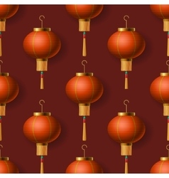 Chinese New Year lanterns seamless pattern vector image