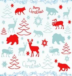 Christmas elementsChristmas opened with deer vector