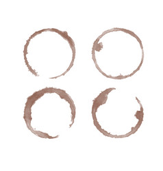 Coffee stain watercolor set vector
