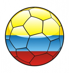 Colombia flag on soccer ball vector