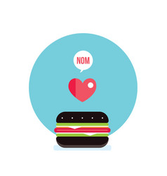 delicious hamburger food banner vector image