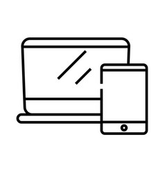 devices line icon concept sign outline vector image
