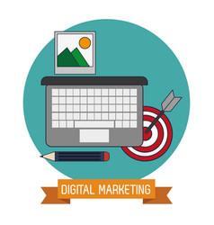 Digital marketing target knowledge trade vector