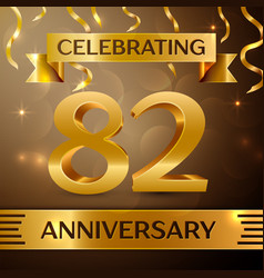 Eighty two years anniversary celebration design vector