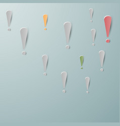 exclamation marks on a soft background vector image