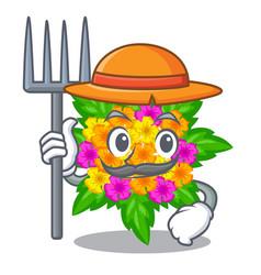 Farmer lantana flowers in the mascot pots vector