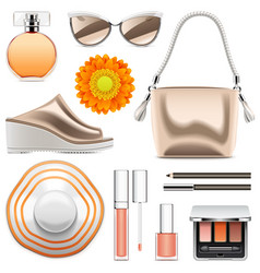 Fashion accessories set 6 vector