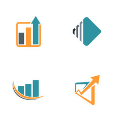 finance arrow chart logos vector image