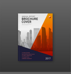 Finance corporate brochure cover design template vector