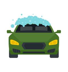 Foam wash car icon flat style vector
