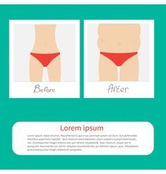 From skinny to fat woman infographic Before after vector