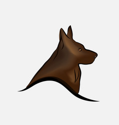 german shepherd dog line art vector image